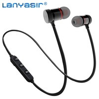 LANYASIR XT 6 IPX4 Rated Sweatproof Stereo Bluetooth 4 1 Headphones Wireless Sports Earphones Aptx Headset