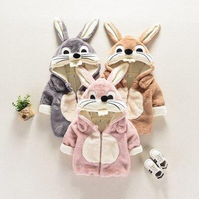 2018 Niedlichen Kaninchen Baby, Kleinkind Mädchen Herbst Winter Mit Kapuze Mantel Mantel Jacke Dicke Warme Kleidung Baby Mädchen Outwear Kleidung äSthetisches Aussehen