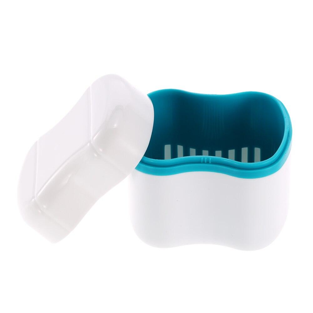 Pink Teeth Box Organizer Transer/® Denture Bath Box Case Dental False Teeth Appliance Container Storage Boxes Dentures Cleaner Dental Care Holders