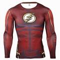 Mens Anime The Flash Barry Allen 3D Impresso Camisas de T...