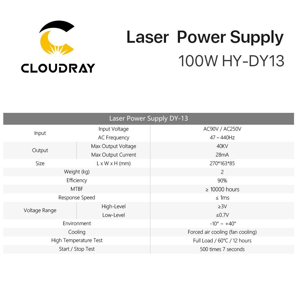 """""""Cloudray DY13 Co2"""" lazerinis maitinimo šaltinis, skirtas RECI - Medienos apdirbimo mašinų dalys - Nuotrauka 6"""