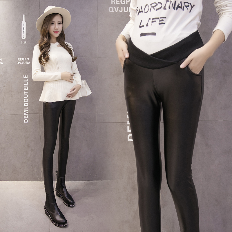 Pregnant Women Maternity Leggings Pregnant Spring Autumn Winter Pants Low Waist Abdomen Supporting Feet Backing Pants