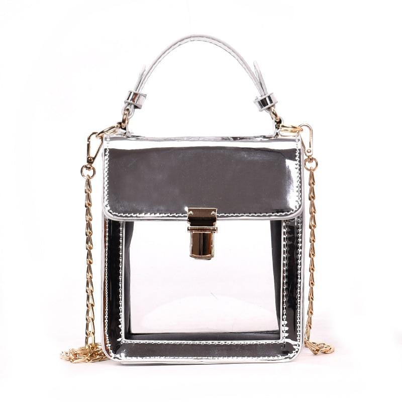 Loshaka 2018 Transparent Color Fashion Party Chain Purse Female Clutch Bag Handbag Shoulder Bag Lady Crossbody Mini Messenger Ba