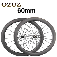 Powerway R13 Hub 424 Spokes OZUZ 60mm Carbon Wheels Road Bike Bicycle Clincher With Alloy Nipple