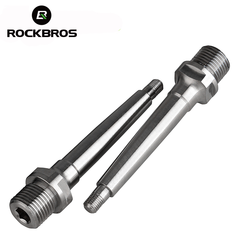 ROCKBROS Titanium Alloy Ti Pedal Spindle Axle Bike Bicycle Pedals Bearing Ultralight Pedal Accessories High Quality ciclismo