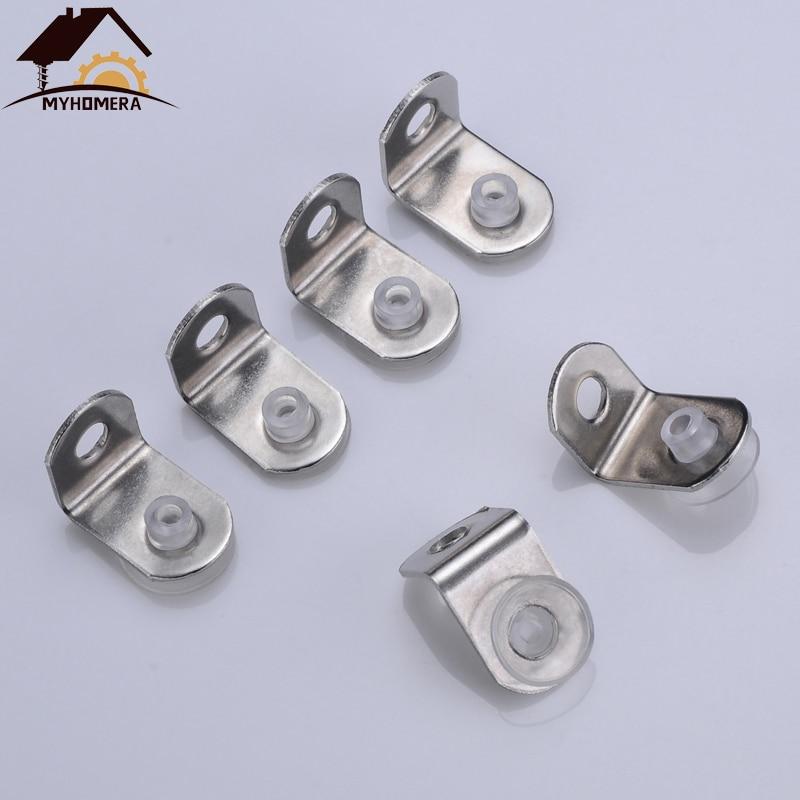 Myhomera 10Pcs Shelf Brackets Support Studs Pegs Steel 5mm Shelves Separat Fixed Cabinet Cupboard Glass Bracket Supporter Holder
