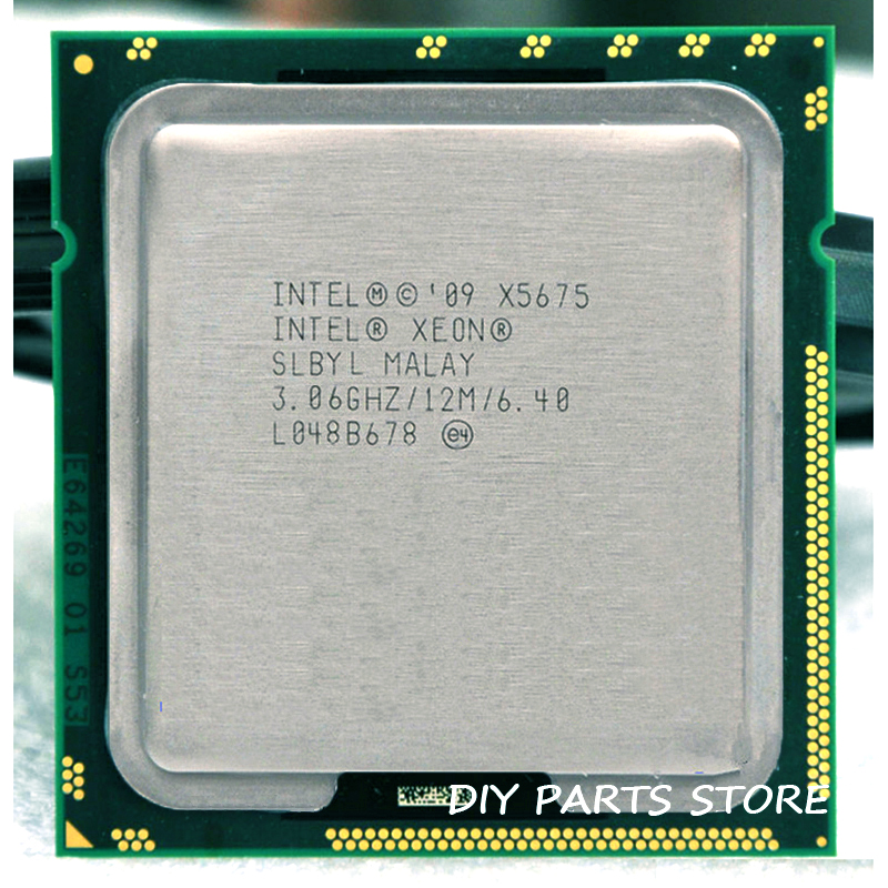 INTEL XONE X5675 SIX core 3.06MHZ LeveL2 12M WORK FOR lga 1366 montherboard