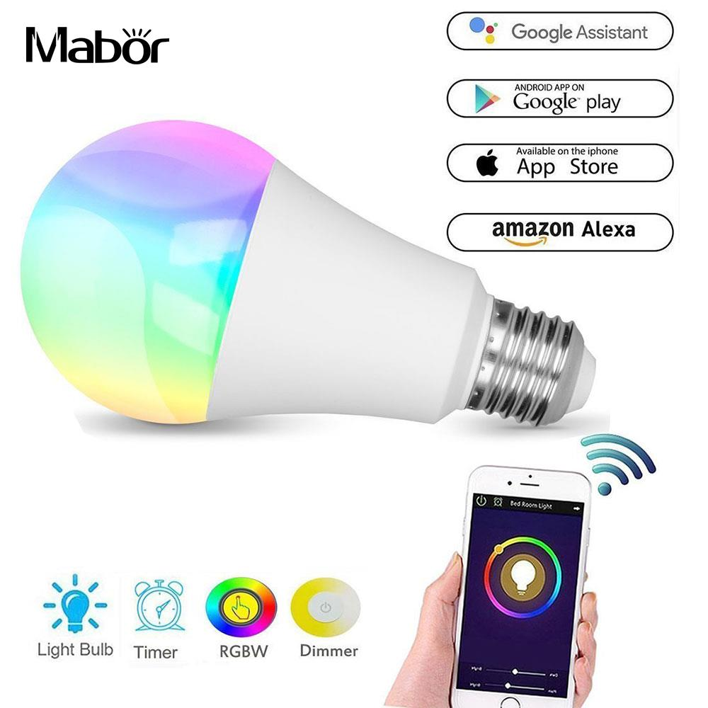 LED Light Bulb Durable Home WIFI Control APP Control RGBW Smart Bedroom LED Bulb Wireles ...