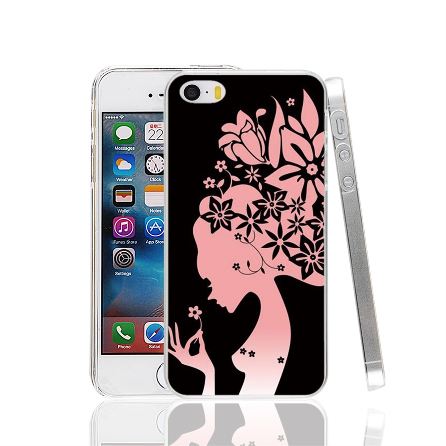 00880 Girly Fashion Wallpapers Girly Cover cell phone Case for iPhone 4 4S 5 5S SE 5C 6 6S 7 Plus