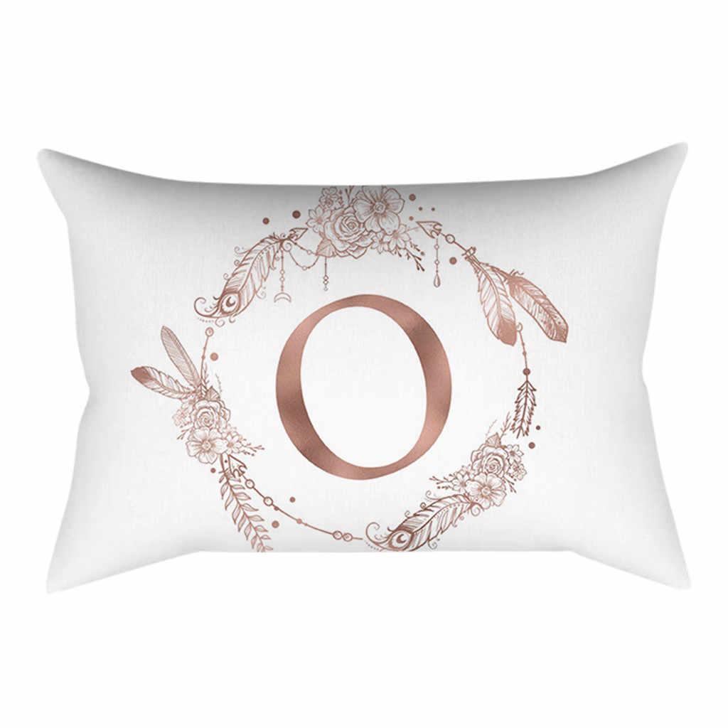 30 × 50 センチメートルキンダー Zimmer Dekoration 簡単な Kissen Englisch アルファベット枕 Cojines Decorativos パラソファ Cuscini Decorativi 24