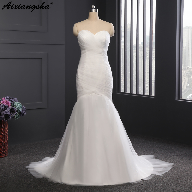 2018 hot sale real picture sexy strapless trumpet mermaid for Mermaid wedding dresses on sale