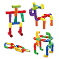 Diy montaje de bloques de construcción de tuberías de agua de juguete bebé niños tubería túnel bloque modelo colorido juguete juguetes educativos para niños