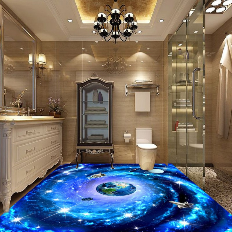 все цены на Free Shipping custom Space universe Star astronaut HD 3D stereo mural self-adhesive shopping mall square KTV wallpaper