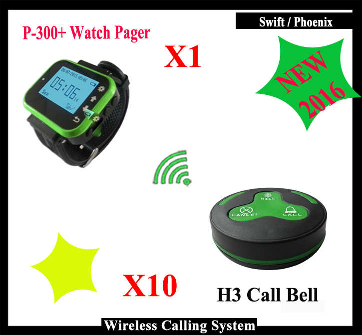 Fashionable & hotsale Wireless waiter service calling system With watch pager K-300Plus And waterproof Call Bell  цены