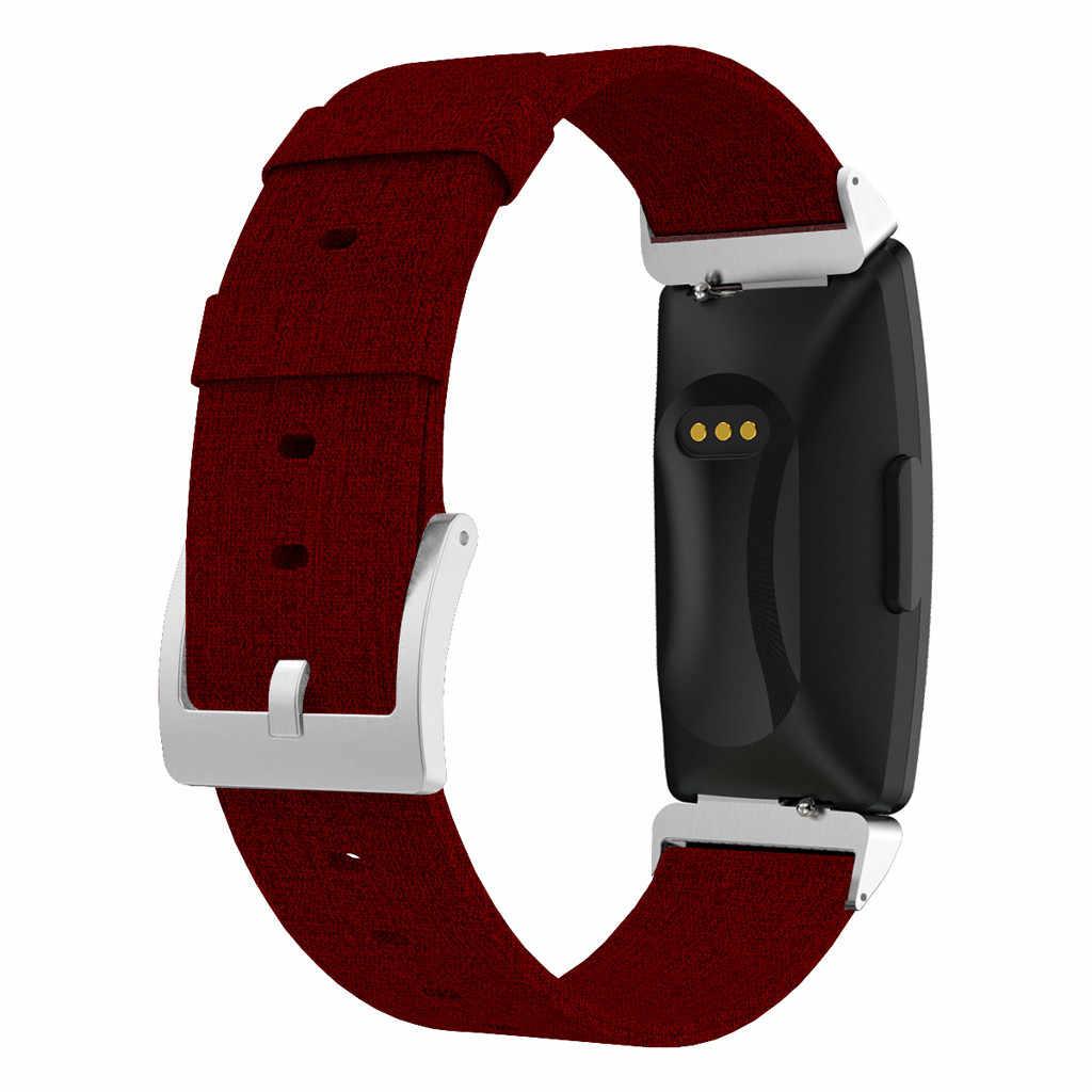 時計バンド腕時計ストラップ交換キャンバス生地リストバンドストラップ Fitbit 鼓舞/鼓舞時時計バンドアクセサリー 19JUN21