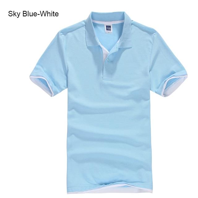URSPORTTECH Men's Polo Shirt For Men Desiger Polos Men Cotton Short Sleeve shirt Clothes jerseys golftennis Plus Size XS- XXXL 5