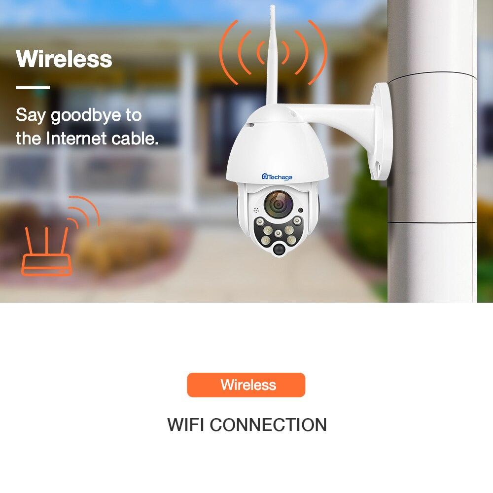 Techage 1080P Wireless PTZ IP Camera Speed Dome WIFI Security Surveillance 2MP Outdoor P2P Cloud ONVIF