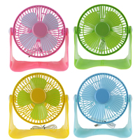 Portable Small Desk USB 4 Blades Cooler Cooling Fan USB Mini Fans Operation Super Mute Cooler