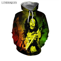 Bob Marley Hoodie Sweatshirt Men 2018 New Fashion Autumn Winter Mens Clothing Casual Outwear Tracksuit Brand