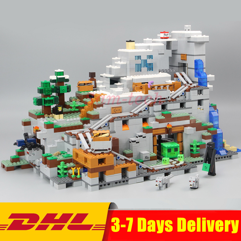 DHL LEPIN 18032 Modèle Kit de Construction Blocs Briques Miniecraft 2932 pièces La Montagne Grotte Mon mondes Compatible Legoings 21137