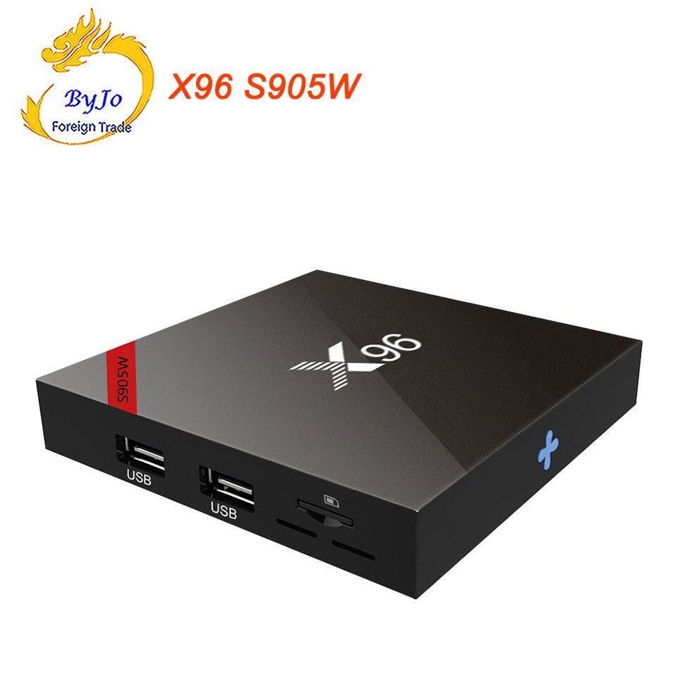 X96 TV Box S905W 1G 8G ou 2G 16G Amlogic Quad Core Android 7.1 Wifi HDMI 2.0 4K * 2K Marshmallow Media Player décodeur