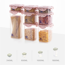 MAIKAMI Kitchen Half Flip Food Storage Box Storage Tank Airtight Plastic Containers Sealed Cans For Coarse Cereals Grains