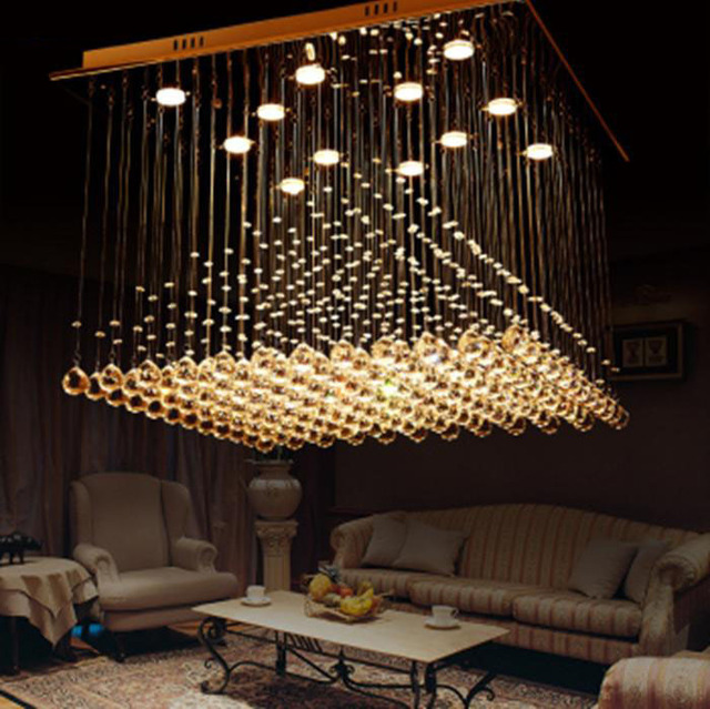 Modern Minimalist Living Room Lights Hanging Wire Crystal Pendant Lamp Bedroom Creative Led Energy Pyramid Ceiling