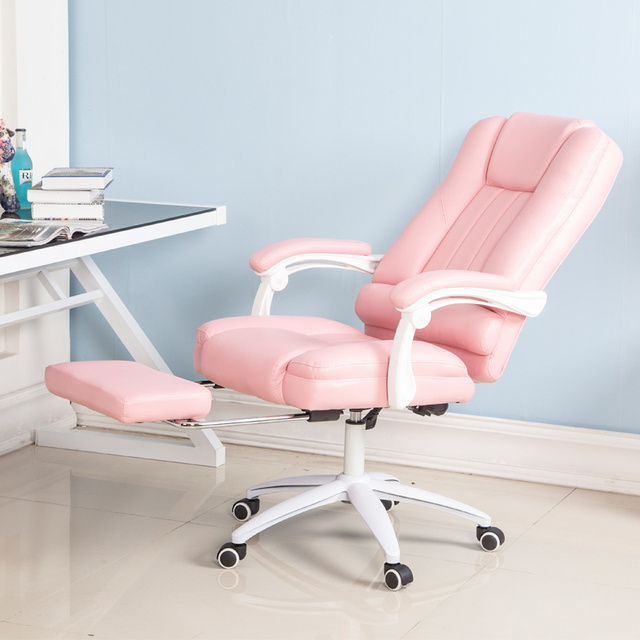 US $446.62 |European Computer Student Main Sowing Backrest Chair Bedroom  Solo Sofa Lovely Girl Economics Type Princess European Pink Colour-in  Office ...