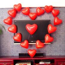 100 шт./лот 10 дюймов сердце Форма белые красные воздушные шары надувной Свадебные Воздушные шары декоративные надувные шары для праздника вечерние happy