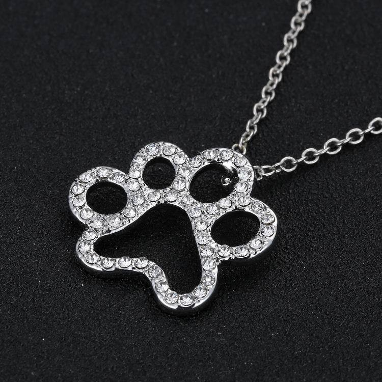 NEW LOVELY CAT PAW BLACK WHITE 2 CAT ON HEART CRYSTAL PENDANT NECKLACE-Cat Jewelry-Free Shipping NEW LOVELY CAT PAW BLACK WHITE 2 CAT ON HEART CRYSTAL PENDANT NECKLACE-Cat Jewelry-Free Shipping HTB1P5JPLFXXXXXOXpXXq6xXFXXXE