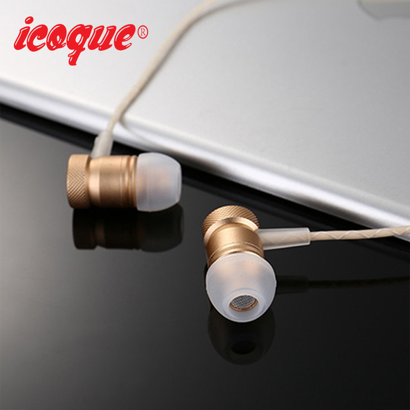 Icoque Wired Earphone 3.5mm In-Ear Hifi Music Headphones with Mic for Samsung s6 Xiami iPhone MP3 PC Super Bass Stereo Earphones
