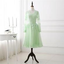 2018 Весна короткое длинное платье втулки вечернее платье Puffy Champange Tulle кружево Appliqued платье выпускного вечера женщины выпускной вечер свадебного платья