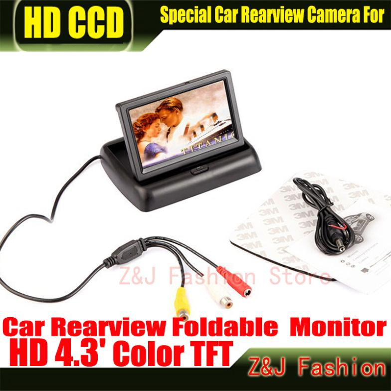 """Image 2 - Hot! 4.3"""" TFT LCD Color Monitor car dashboard safety monitoring of Auto Reversing Parking Foldable Camera Rearview Monitor-in Vehicle Camera from Automobiles & Motorcycles on AliExpress"""