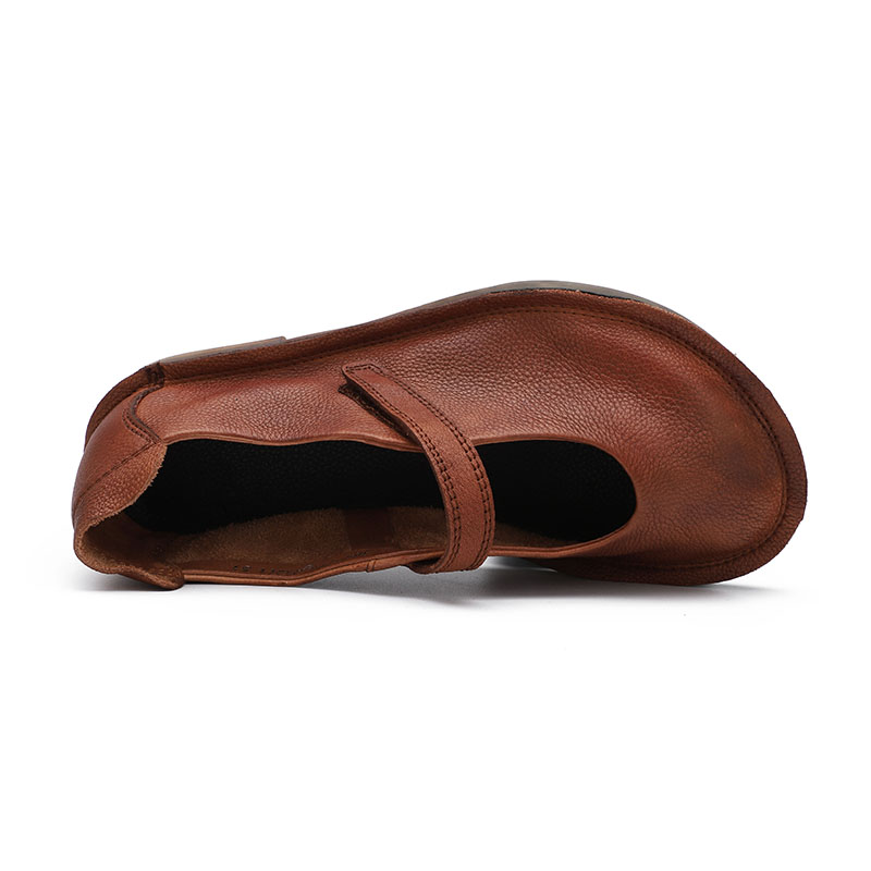 Orteils Véritable Doux Femme Plats Brun 2019 De Nouveau Rond Femmes Jane Printemps Cuir Chocolat Confortable Mary Dames Pour Mocassins Plates Chaussures XUpPUnT8