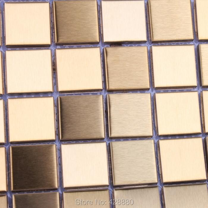 Metallic Tile Mosaic Stickers Brushed Interior Aluminum ...