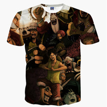 One Piece Anime Monkey D Luffy Shanks Law Men's Summer T shirt