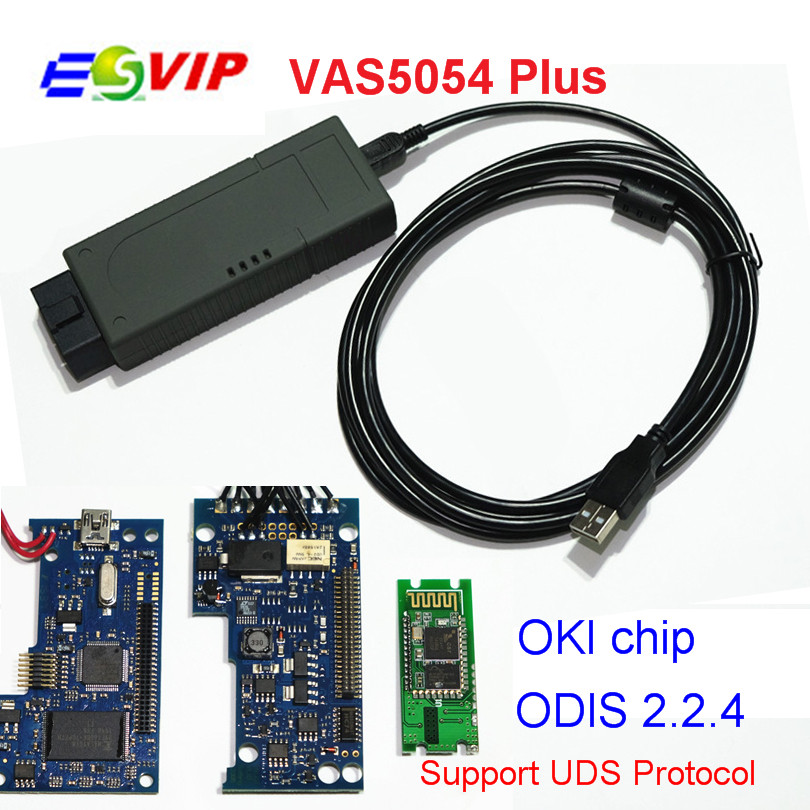 DHL free ODIS2.2.4 VAS 5054 Plus 2017 with OKI Chip vas5054 plus with Bluetooth 2013 r3 with keygen vd tcs cdp pro plus bluetooth auto diagnostic tools full all 8 car cables dhl free shipping