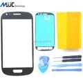 Черное стекло s3 Мини I8190 переднее стекло Для Samsung Galaxy S3 мини передняя внешний стекло Синий Белый Красный сенсорный экран + инструменты + стикер