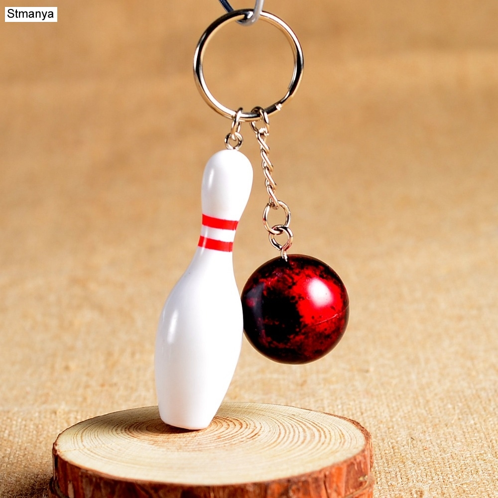 New Design Bowling Metal Keychain Car Key Chain Key Ring Sports Hot Sale Keyring Pendant For Man Women Gift Wholesale #1-17164