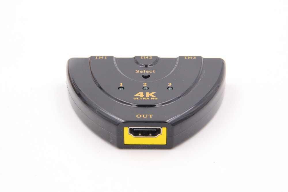 HDMI TỰ ĐỘNG Chuyển Đổi Switcher 4 K * 2 K 3D Mini Bộ Chia Tín Hiệu HDMI 3 vào 1 ra Cổng Trung Tâm cho DVD HDTV Xbox PS3 PS4 1080 P bán mới