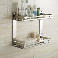MTTUZK DIY 304 stainless steel Bathroom shelves toothbrush holder Rinse cup rack makeup rack washbasin storage rack prateleiras