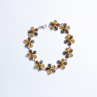 Genuine Sterling silver natural ore Baltic amber beeswax Bracelets Shipping antique jewelry Europe and the United States back