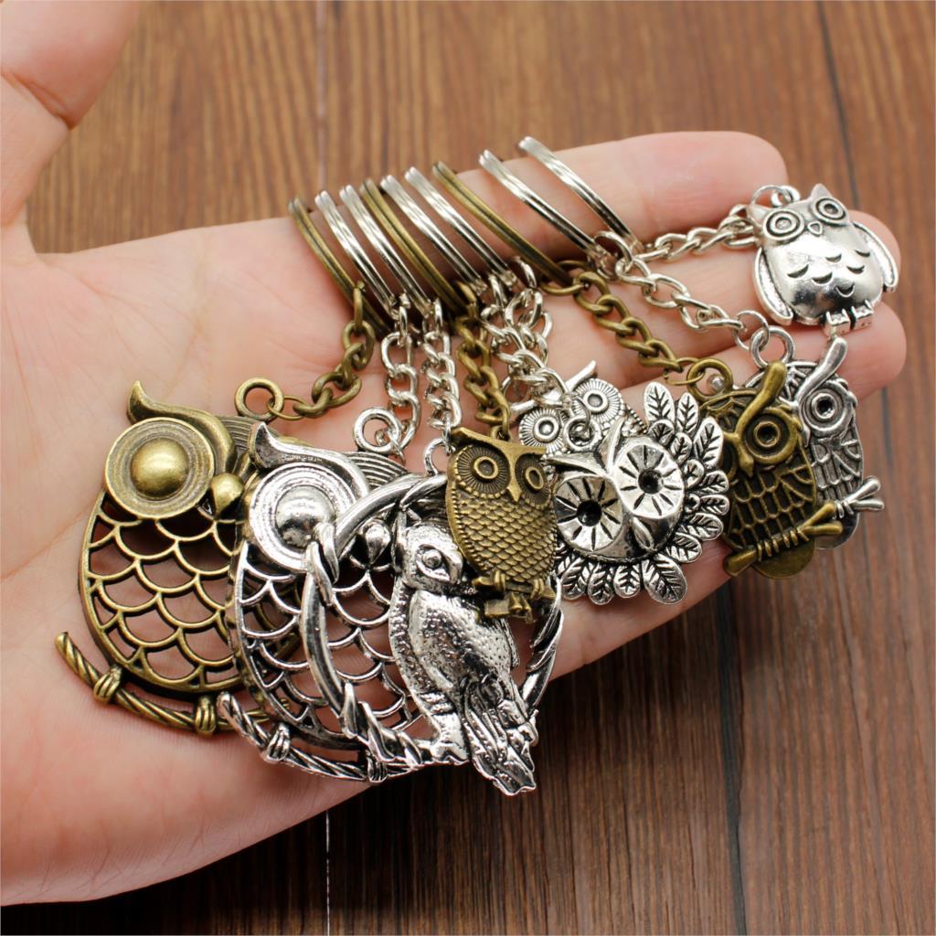 Creative Owl Keychain Key Chain Key Ring Owl Christian Car Keychain Handmade Accessories Souvenir Gift For Girls