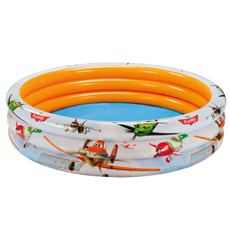 ФОТО Cute Plane Pattern Children Swimming Pools 168*40CM Baby Inflatable Piscina Infant For Adults Paddling Pool Family Outdoor Toy
