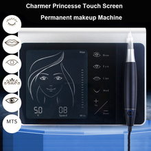 Charmer Princesse Touch Screen Permanent Makeup Machine Kit for Eyebrow Lip Eyeliner Machine with 50pcs Cartridge Neeldes the charmer