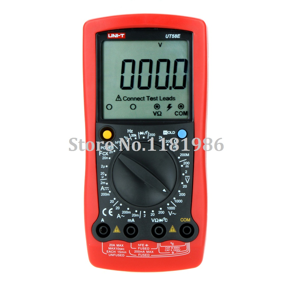 UNI-T UT58E w/ Frequency Temperature Test LCR Meter Modern Manual Range Digital Multimeters Ammeter Multitester DMM  цены