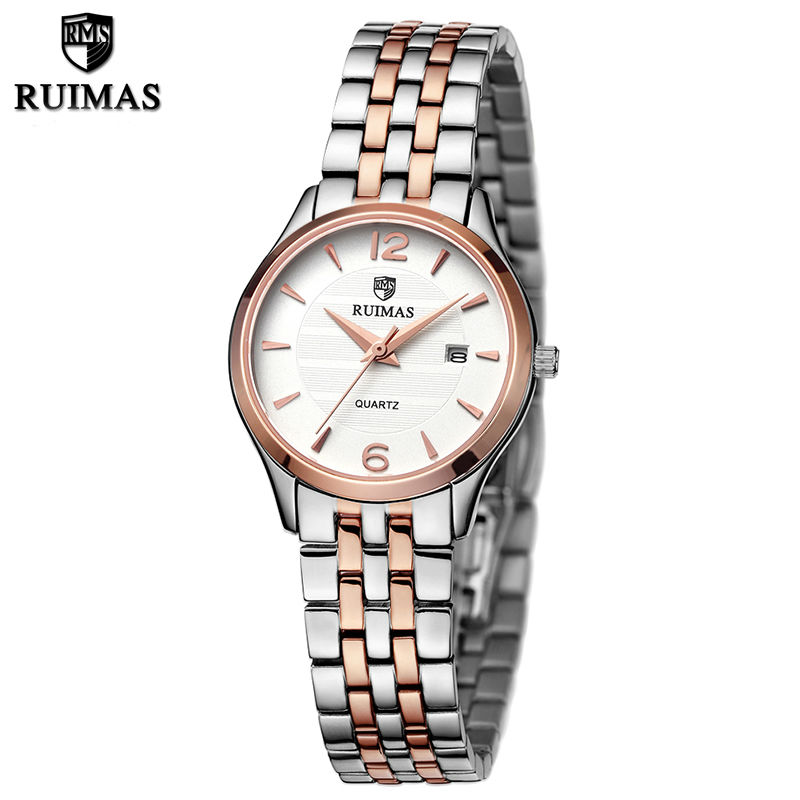 RUIMAS Fashion Quartz Ladies Watch Top Brand Luxury Women Watches Relogio Feminino Girl Wrist Watch with Stainless Steel Strap chenxi fashion luxury quartz watch women dress stainless steel strap waterproof business casual ladies watches relogio feminino