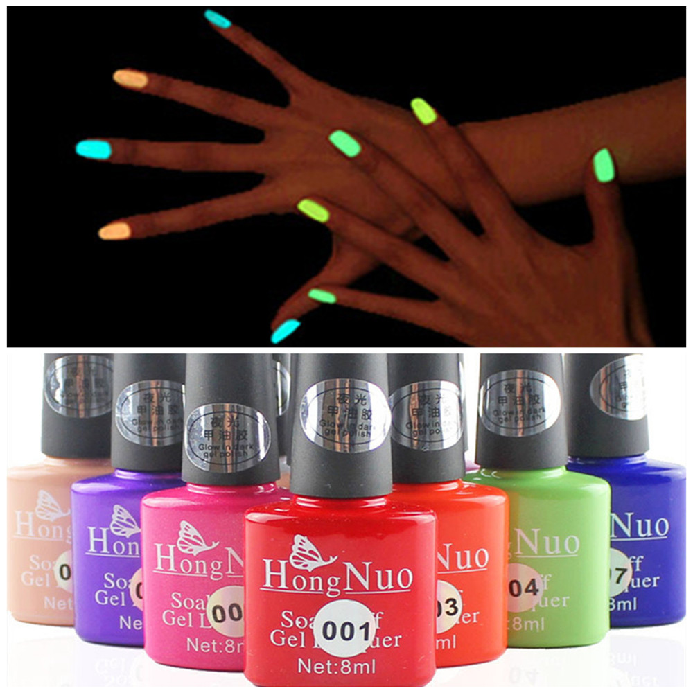 Fashion Jelly Glow UV Gel Nail Polish 9 Colors for Choose 8ML ,one peace for Nail art