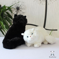 Plush Cats Doll Toys Soft White and Black Persian Cat Stuffed Toy Accessories Car Ornaments Children'S Birthday Gifts Rare