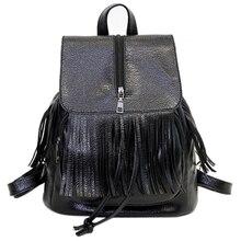 Классический Стиль Новый урожай искусственная кожа рюкзак Женщины Причинные Daypacks Школьные Сумки для Девочек Черный Кожаный PU Женщины рюкзак
